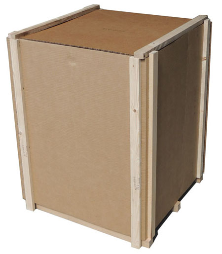 Wood cleated box, wood and corrugated boxes and crates